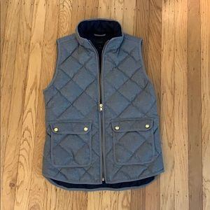 J Crew Excursion Quilted Vest in Flannel